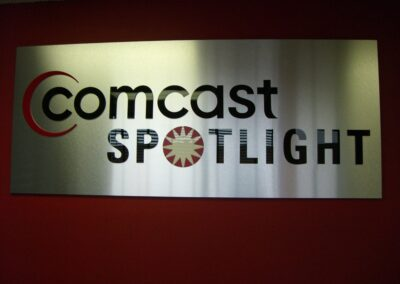 Comcast Spotlight Lobby Sign
