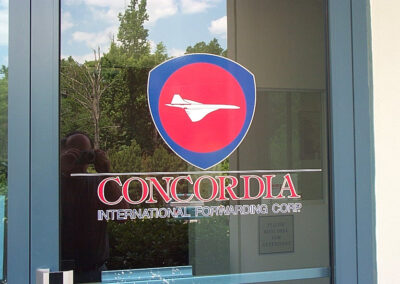Concordia front door decal