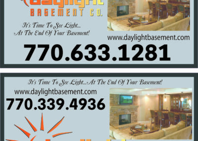 Daylight Basement magnetic signs