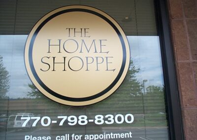 Home Shop Window graphics