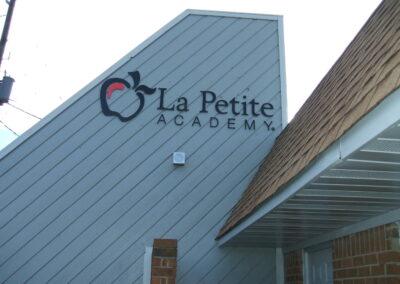 La Petite front wall sign