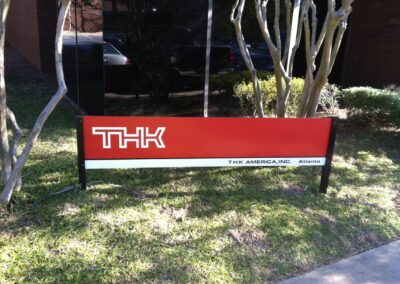 THK post and panel Sign