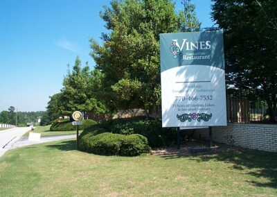Vines Banner over wood backer