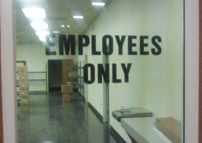 Employees Only Window Sign