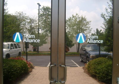 kgp Team Alliance glass door graphics