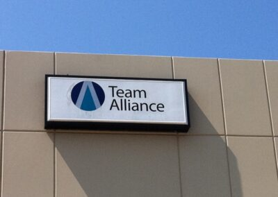 kgp Team Alliance lighted box sign