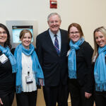 The Seamless Events' Team takes a moment to grab spotlight time with Steve Forbes!