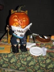 miniature pumpkin man