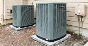 Duel Variable Capacity Air Conditioners Behind a Home