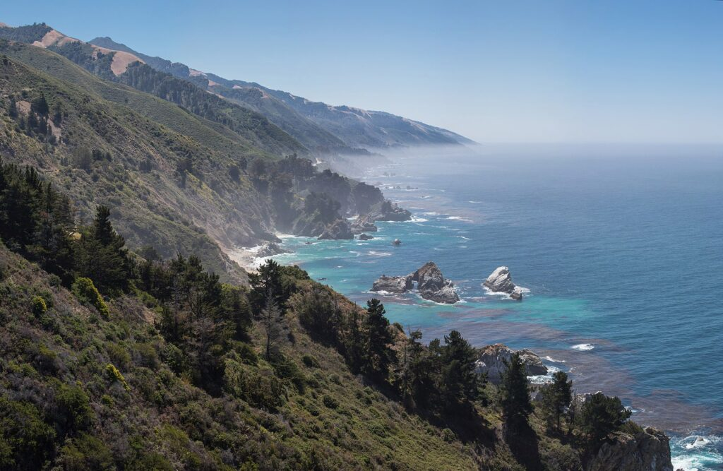 Big Sur, California is a top 20 summer vacation in usa