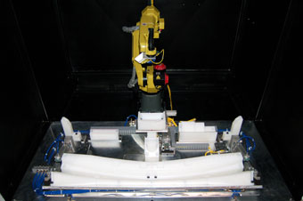 Robotic vision inspection close-up
