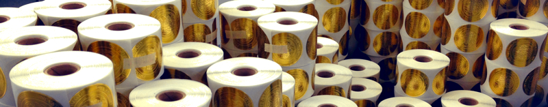 Embossed Rolls produced by Coast Label