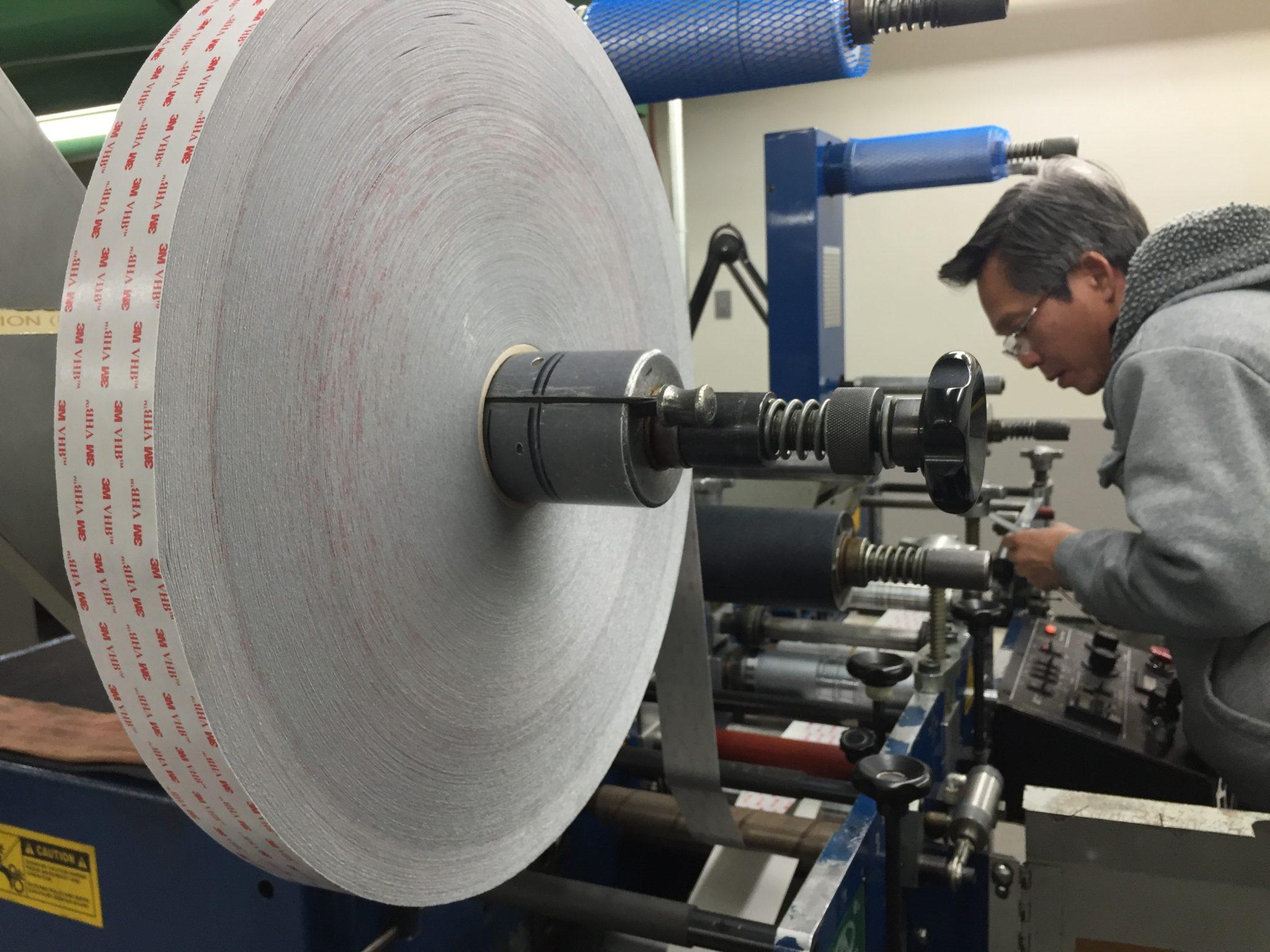 3M Die Cut VHB on press