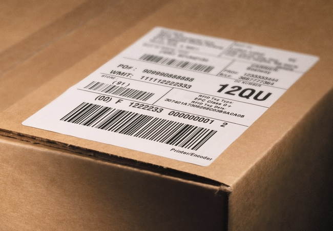 shipping label for box