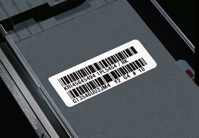 Thermal Transfer label with barcode