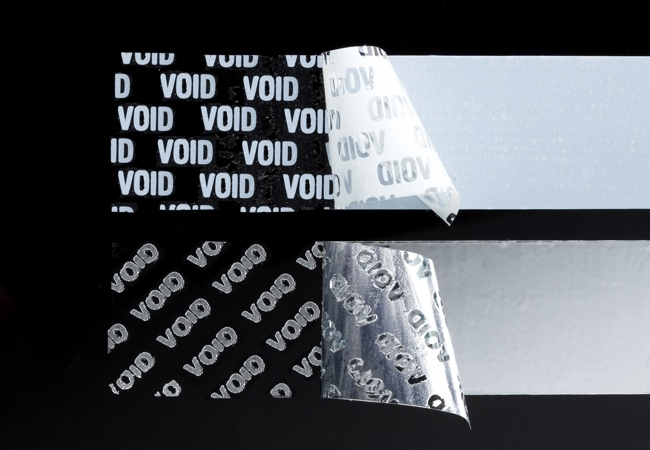 Available tamper evident void patterns