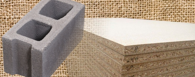 Textured surfaces: Burlap, Cinder Block, Particle Board