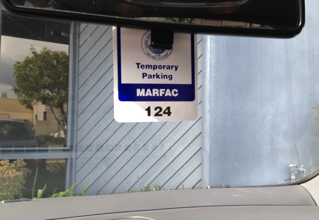Parking Hang Tag