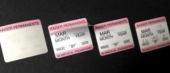 Self Laminating Labels