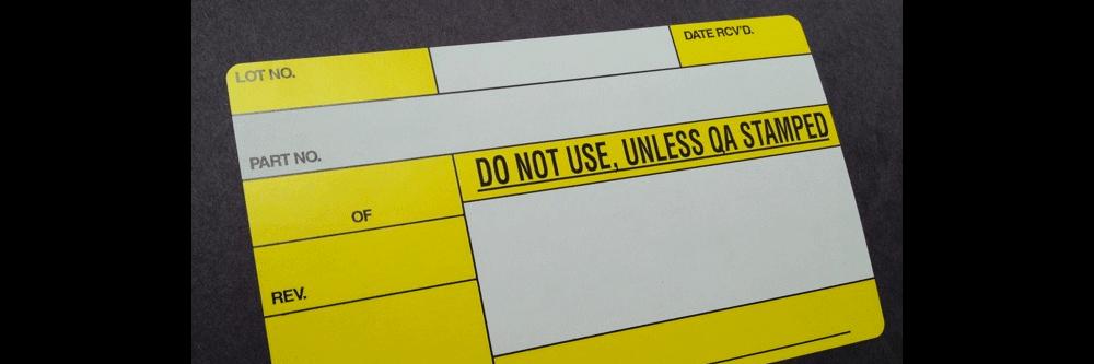 Quality Control Labels