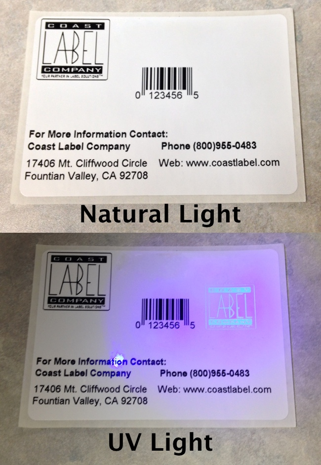 UV Security Label Inks