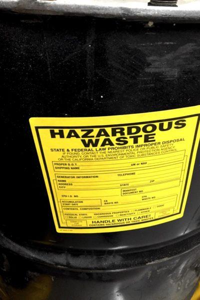 chemical drum label