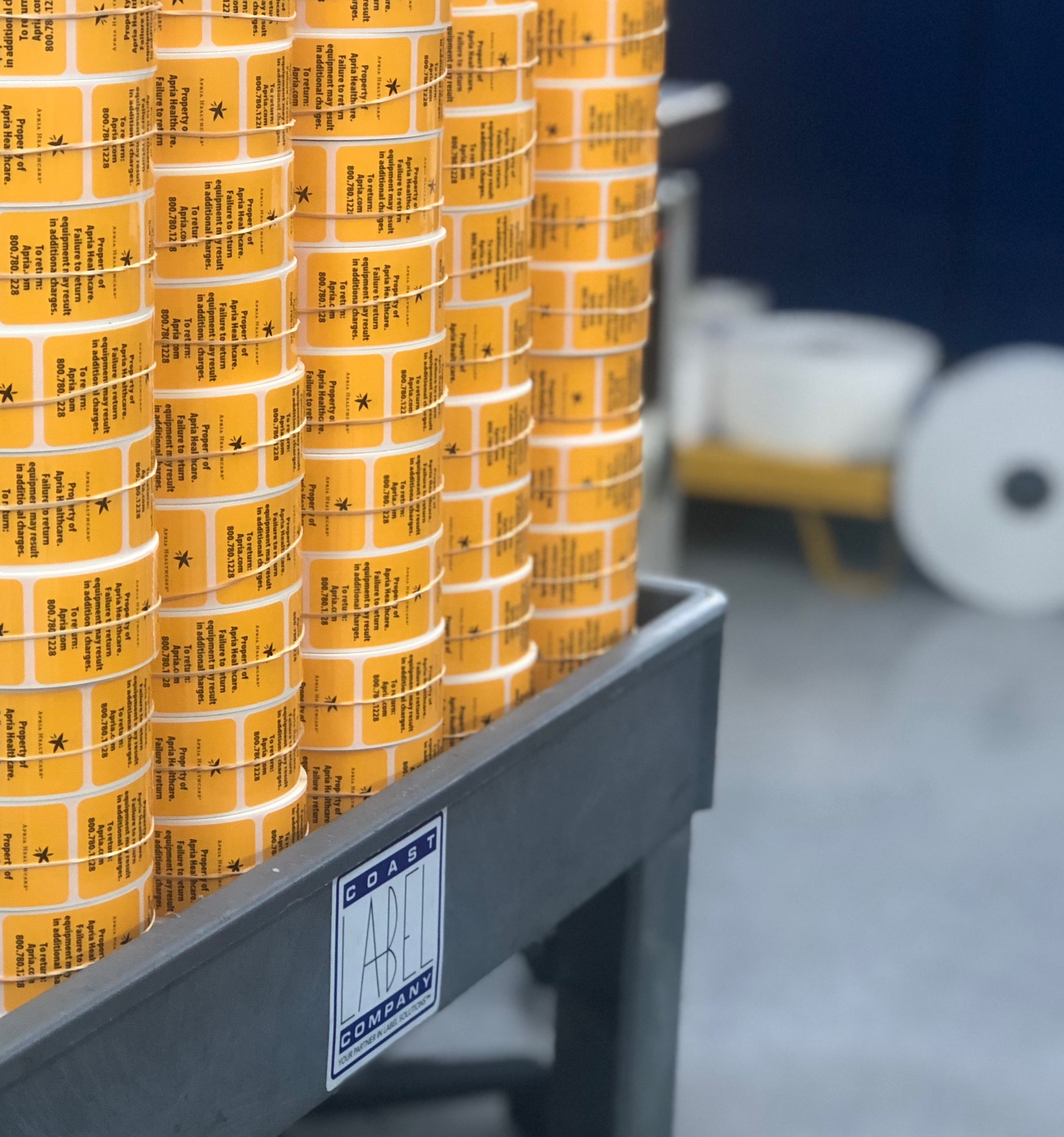 Rolls of Polyester Labels