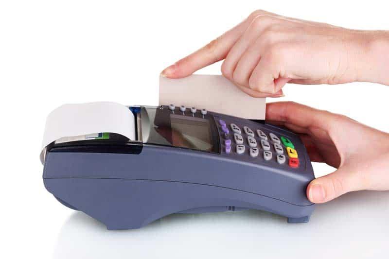 bank terminal and credit card processing