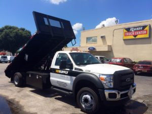 Action's Flatbed body on the jobsite.