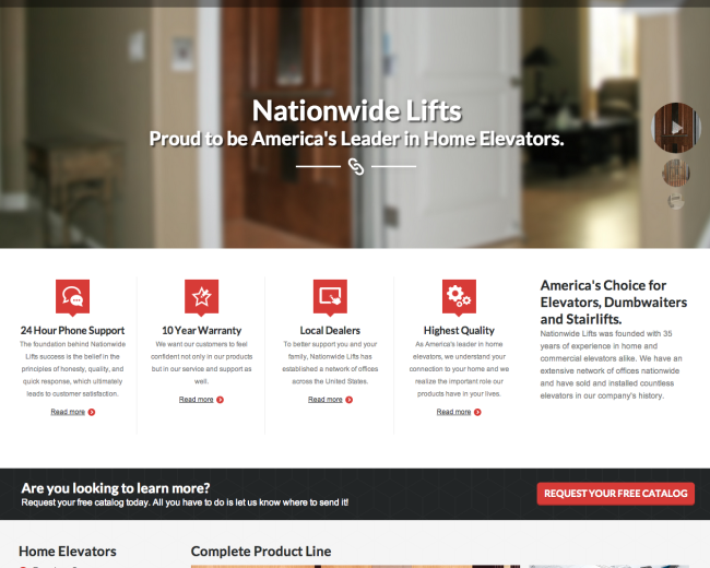 Nationwide Lifts Web Design
