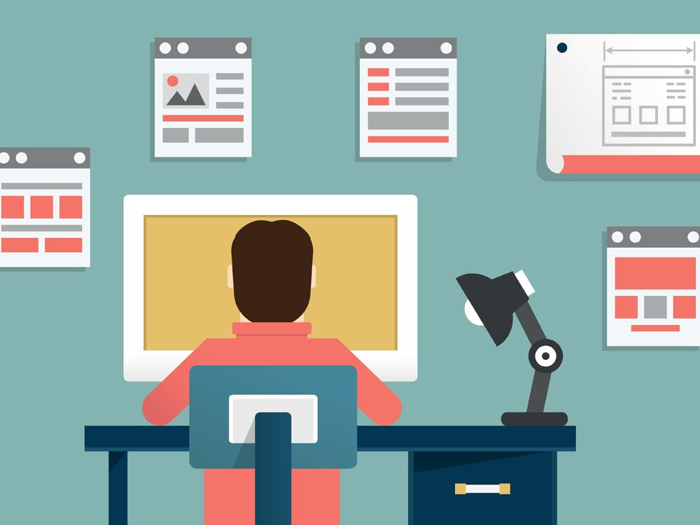 Graphic of Web Designer
