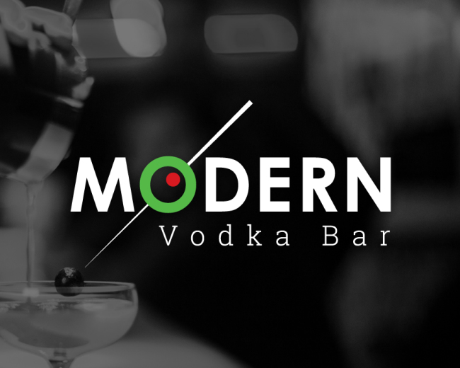 Modern Vodka Bar Logo Design