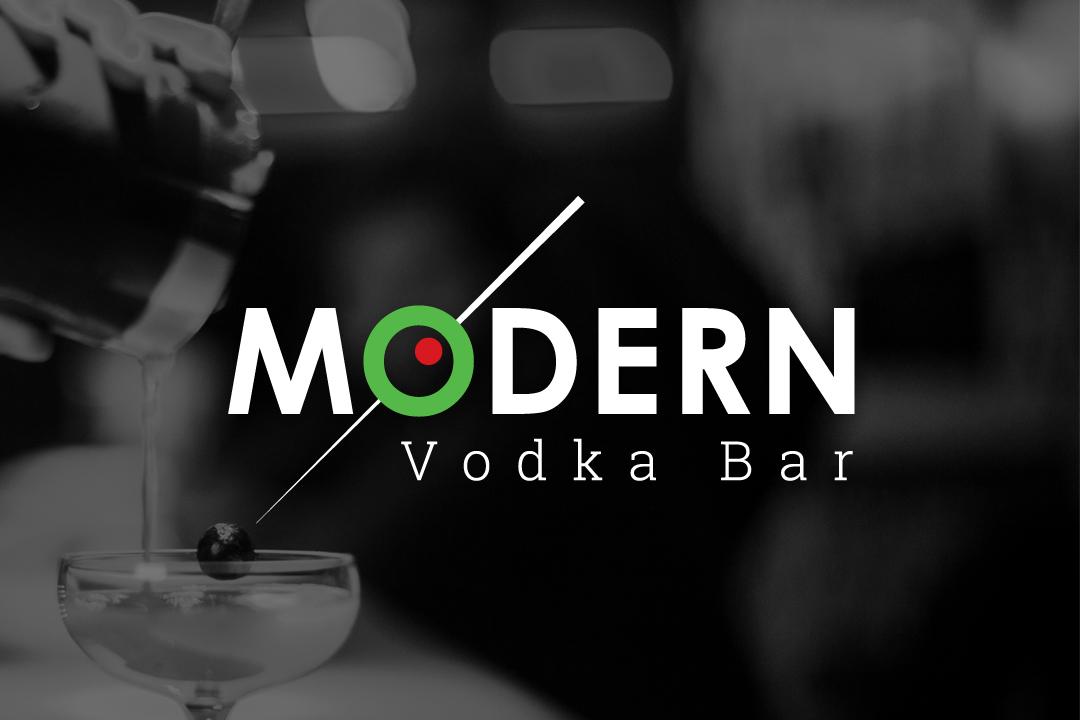 Modern Vodka Bar Logo Example Color