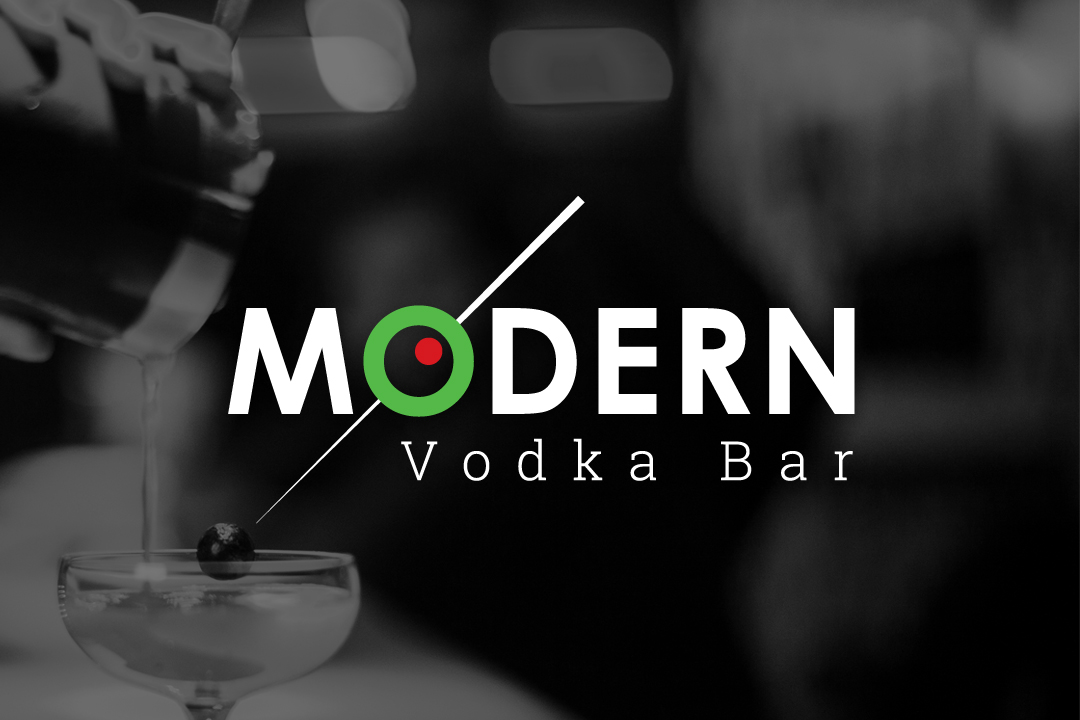 Modern Vodka Bar Logo Example Color