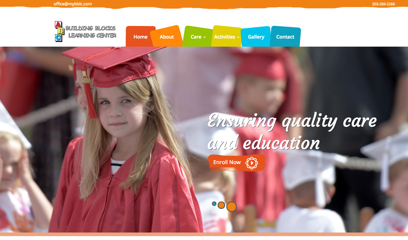 Website Design for Day Care Center in CT