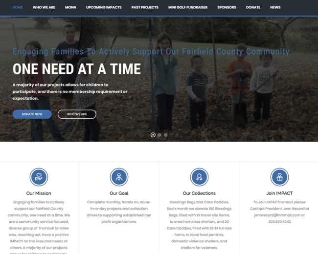 Impact Trumbull – Website Design