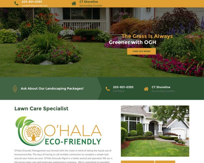 O'Hala Grounds – Website Design
