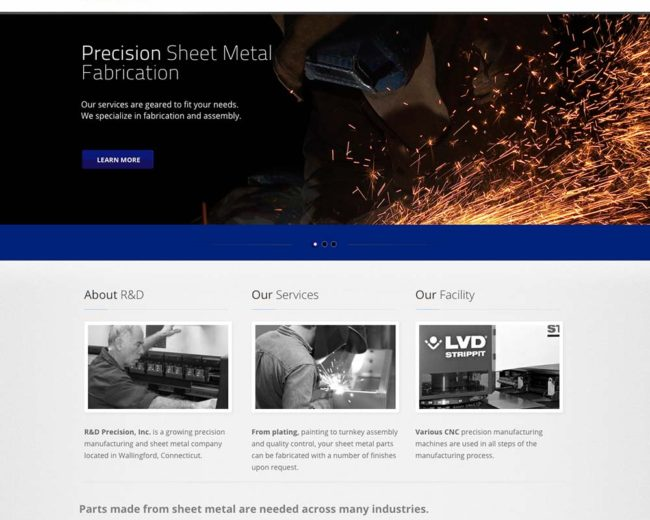 R&D Precision – Website Design