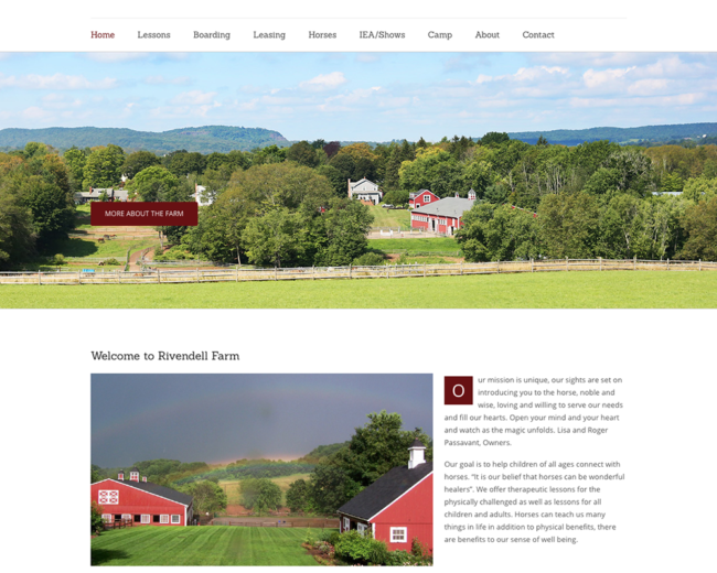 Rivendell Farm – Website Design