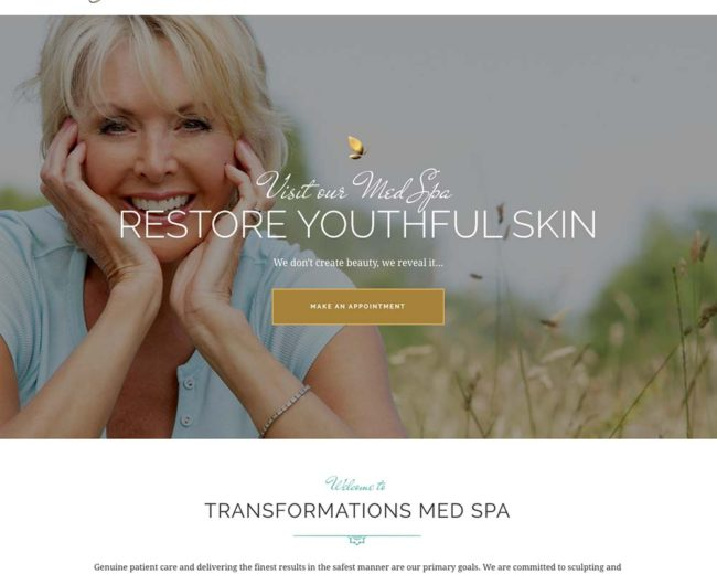 Transformations Med Spa – Website Design