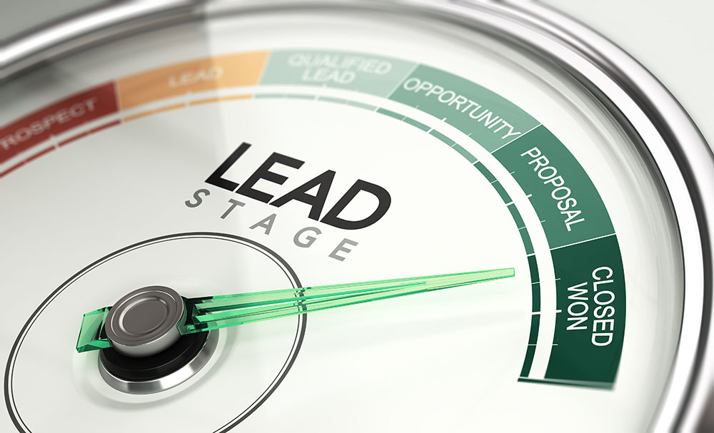 Inbound Marketing and Sales Process Concept