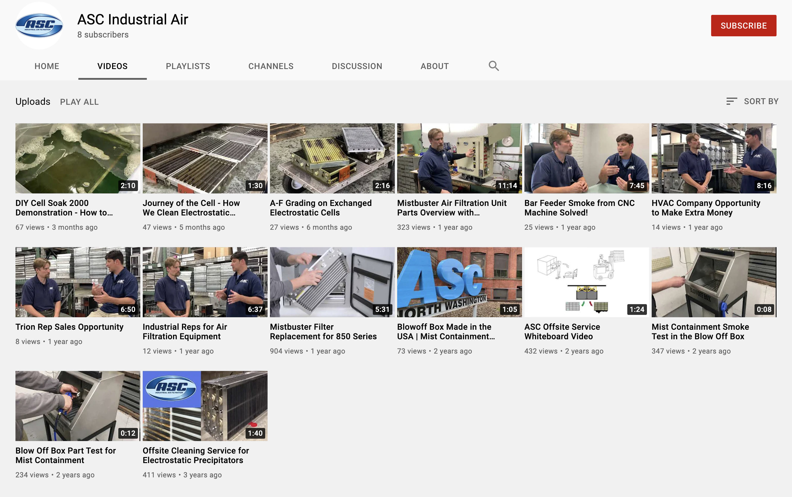 Library of Manufacturing and B2B Videos