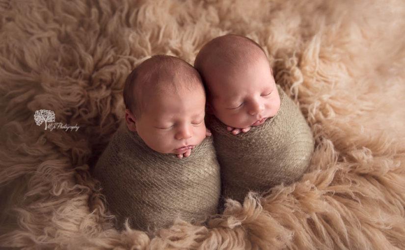 Katy newborn photography – twin boys