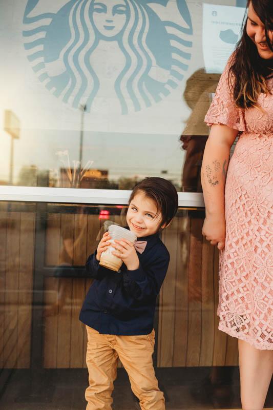family at Starbucks