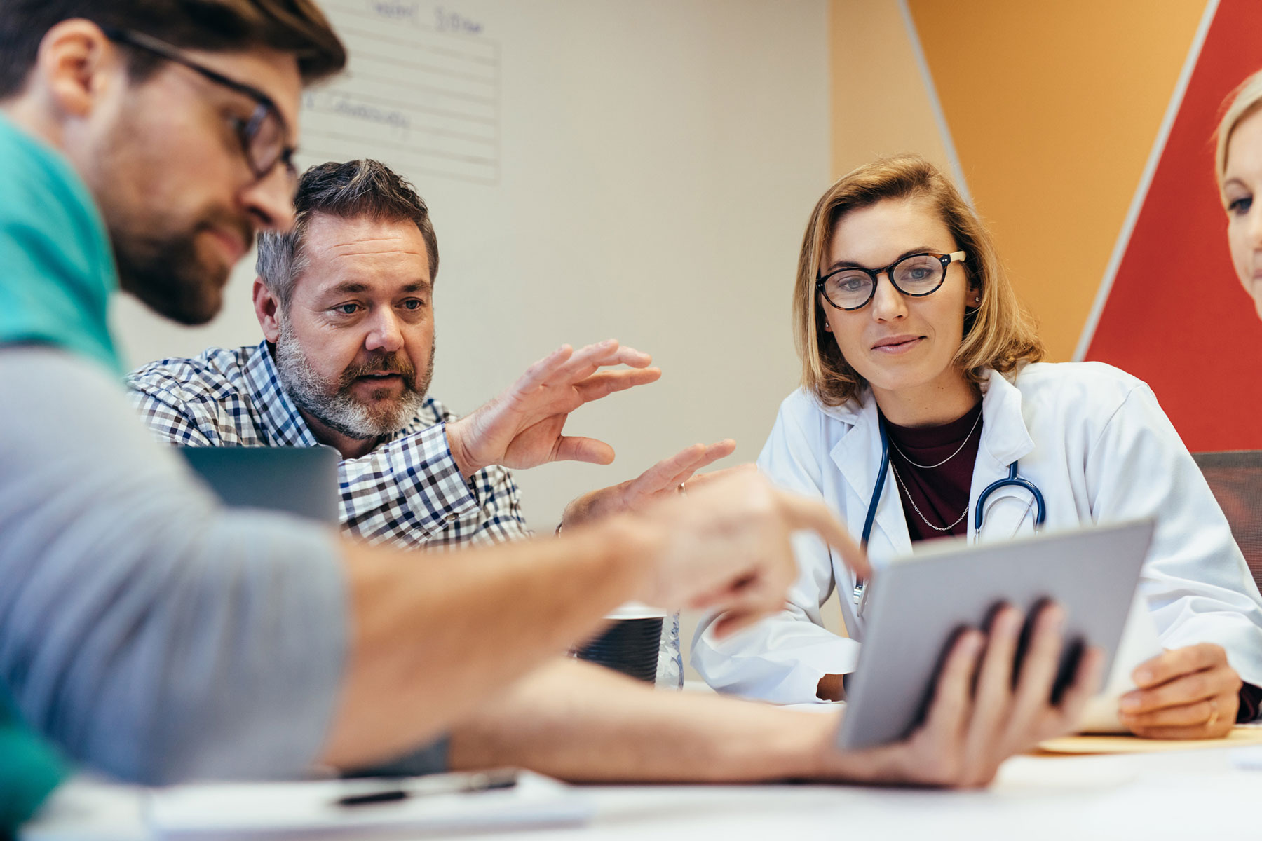 Medical staff briefing