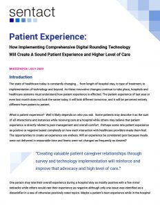 Patient Experience whitepaper