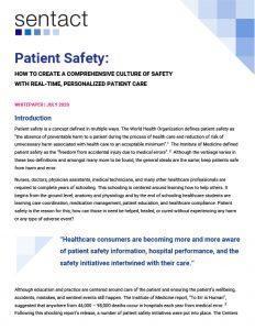 Patient Safety whitepaper