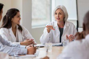female doctor going over sentact ondemand benefits