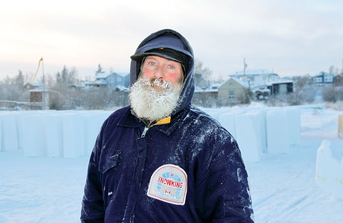 Snow castle construction underway in Yellowknife