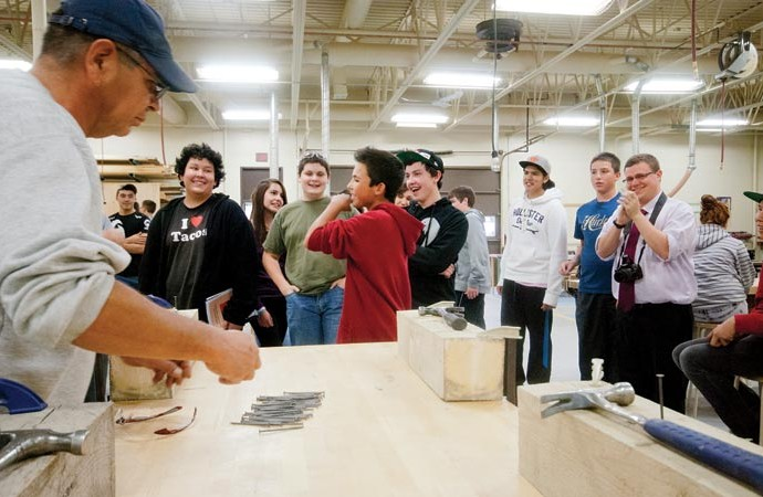 South Slave students try their hand at trades